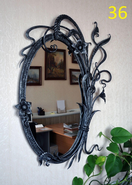 Зеркало в кованой раме своими руками 152