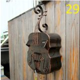 Antique-Violin-Wall-Mount-Cast-Iron-Mailbox-Wall-Mounted-Mailbox-Wall-Mounted-Wrought-Iron-Lett-